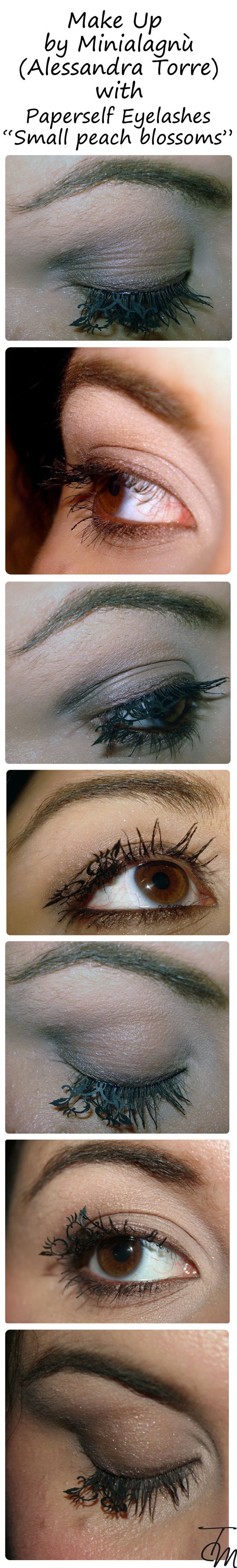 make up by minialagnu alessandra torre with paperself eyelashes small peach blossoms