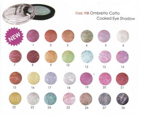 ombretti cotti cinecittà gamma colori