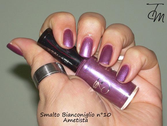 Smalto-bianconiglio-cosmetics-n°10-ametista-swatch-boccetta-storta