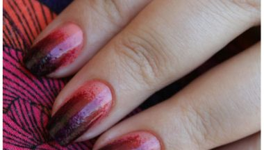 NOTD From Dark Violet to Rose Coral Gradient Nail Art – 1° Entry all'Opi Blog Contest 2011