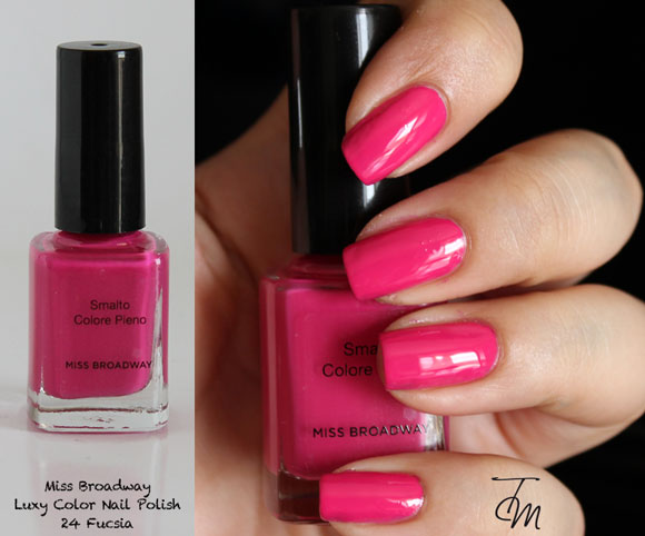 swaches luxy color fucsia  miss broadway