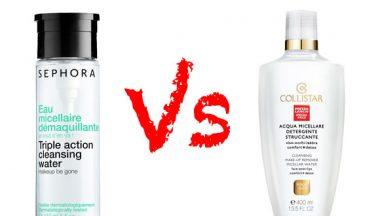 Challenge – Prodotti a confronto: Acqua Micellare Sephora vs Acqua Micellare Collistar