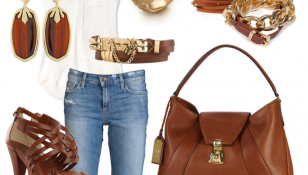 Gold&Leather Outfit