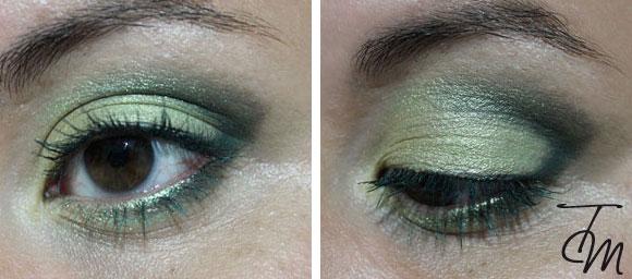 make up verde dettaglio