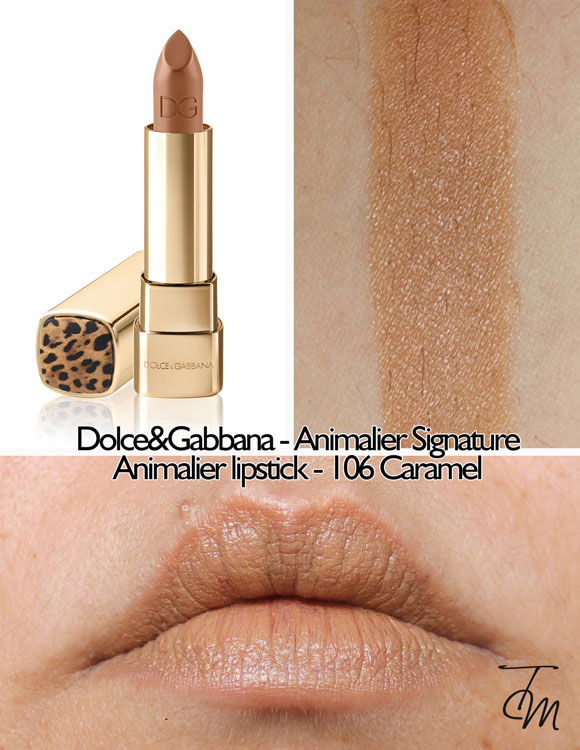 swatches-dolce&gabbana-animalier-lipstick-106-caramel