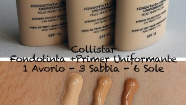 Collistar Fondotinta + Primer Uniformante [Review, Photo, Swatches]
