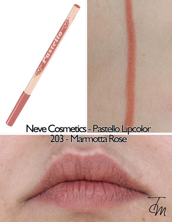 swaches-neve-cosmetics-pastello-lipcolor-matita-labbra-203-marmotta-rose
