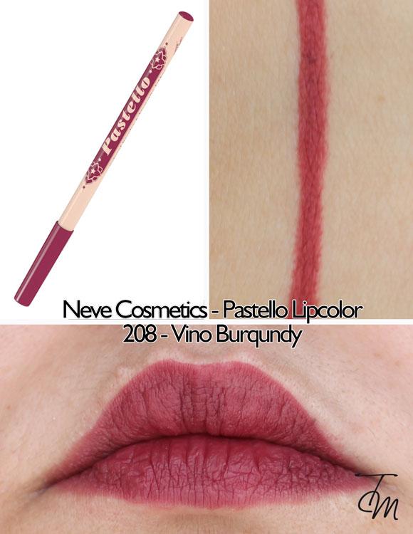 swaches-neve-cosmetics-pastello-lipcolor-matita-labbra-208-vino-burqundy