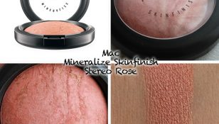swatches mac mineralize skinfinish stereo rose