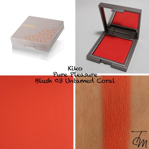 Swatches Kiko Pure Pleasure Blush 03 Untamed Coral