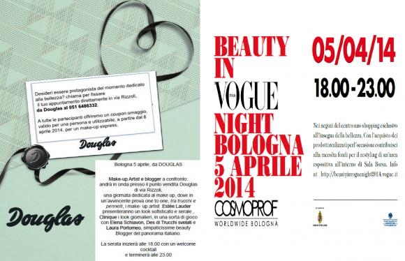 Douglas serata 5 Aprile Beauty in Vogue
