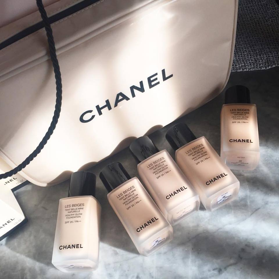 chanel les beiges healthy glow foundation review photo swatches. Black Bedroom Furniture Sets. Home Design Ideas