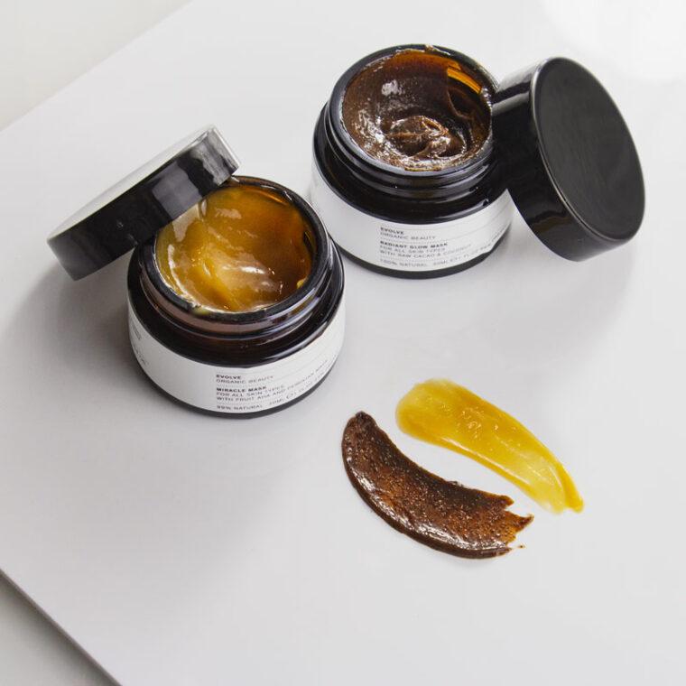 Maschere Evolve Organic Beauty Viso per esfoliare ed illuminare